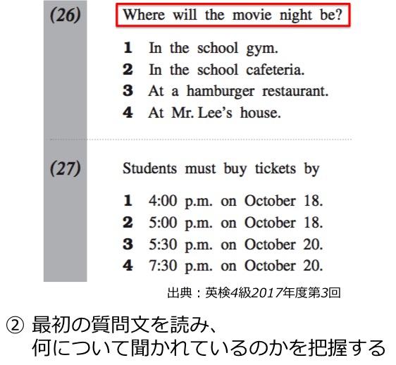4 問 級 検 英 過去 英検対策講座【4級】大問3: 日本文付き短文の語句整序問題|英ナビ!