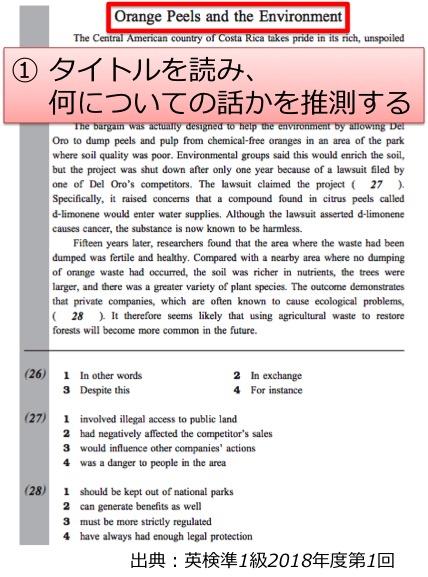 英検準1級 準一級 リーディング 長文 対策 コツ