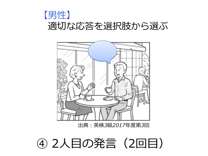 英検3級リスニング対策 大問1 問題例 解き方 コツ
